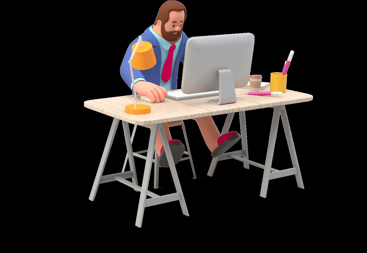 Graphic-design-man-workplace